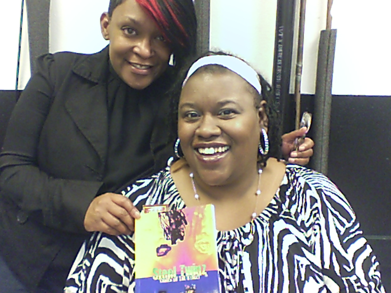 Owner, D.C.I. Hair Studio, C.E.O. of Exotic Hush  Shawna B with Author/C.E.O. of Queen Rella's Novella's Queen Rella